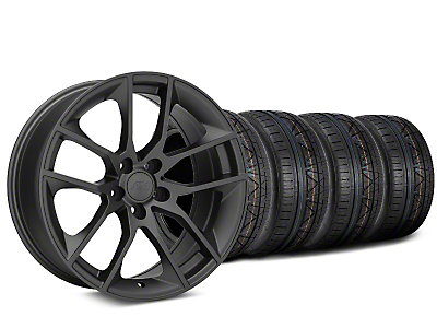Staggered Magnetic Style Charcoal Wheel & NITTO INVO Tire Kit - 19x8.5/10 (15-19 GT, EcoBoost, V6)