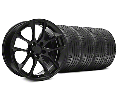 Staggered Magnetic Style Black Wheel & Sumitomo Tire Kit - 20x8.5/10 (15-19 GT, EcoBoost, V6)