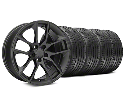 Staggered Magnetic Style Charcoal Wheel & Sumitomo Tire Kit - 20x8.5/10 (15-19 GT, EcoBoost, V6)