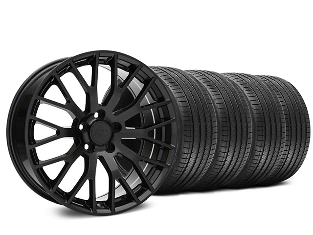 Staggered Performance Pack Style Black Wheel & Sumitomo Tire Kit - 20x8.5/10 (15-18 All)