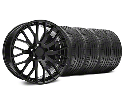 Staggered Performance Pack Style Black Wheel & Sumitomo Tire Kit - 20x8.5/10 (15-18 GT, EcoBoost, V6)