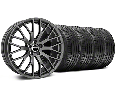 Staggered Performance Pack Style Charcoal Wheel & Sumitomo Tire Kit - 20x8.5/10 (15-17 All)