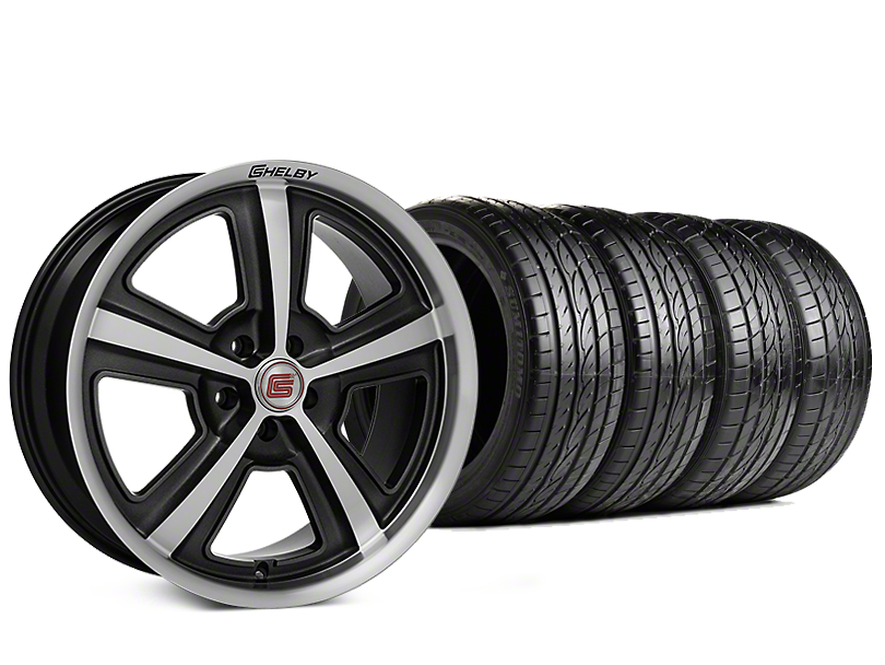 Staggered Shelby CS69 Hyper Black Wheel & Sumitomo Tire Kit - 20x9/10 (15-17 All)