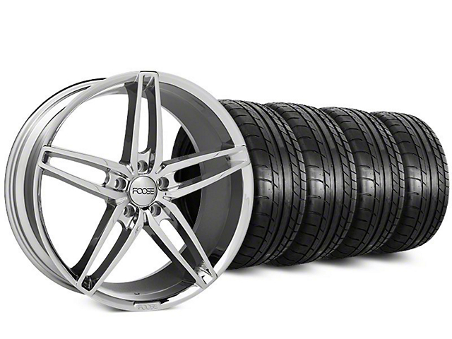 Staggered Foose Stallion Chrome Wheel & Mickey Thompson Tire Kit - 20 in. - 2 Rear Options (15-17 All)