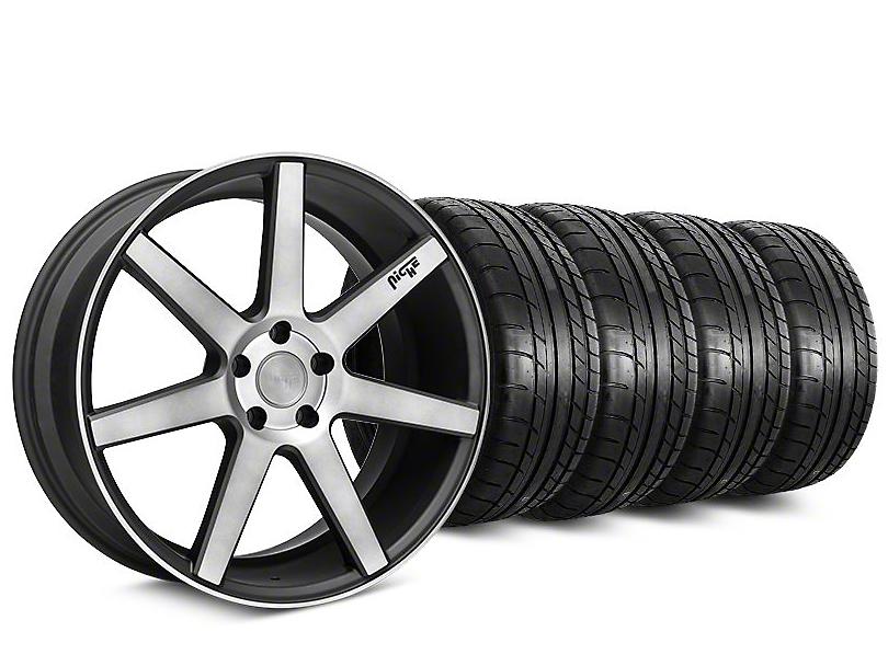 Staggered Niche Verona Black Double Dark Wheel & Mickey Thompson Tire Kit - 20x9/10 (15-19 All)