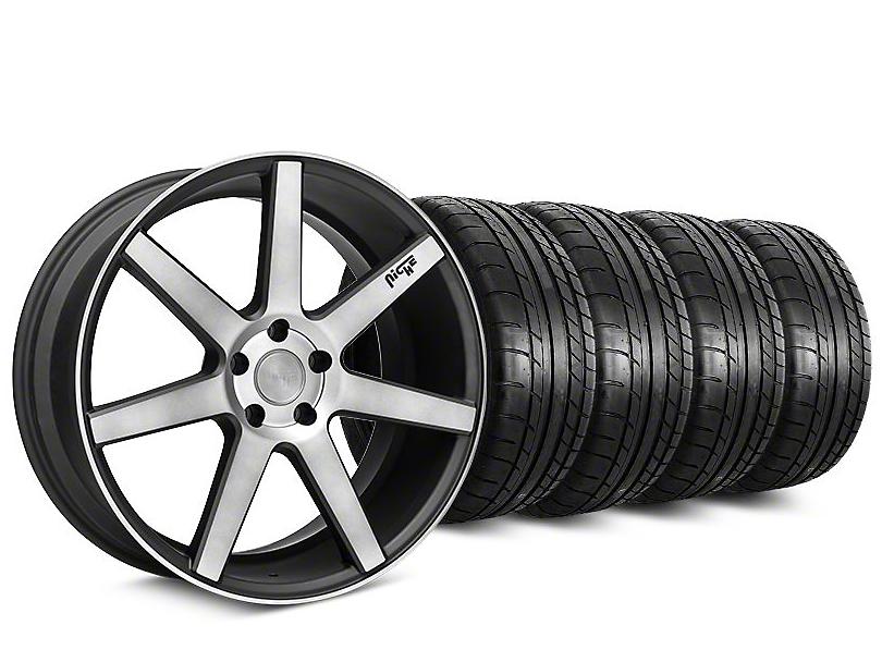 Staggered Niche Verona Black Double Dark Wheel & Mickey Thompson Tire Kit - 20x9/10 (15-18 All)