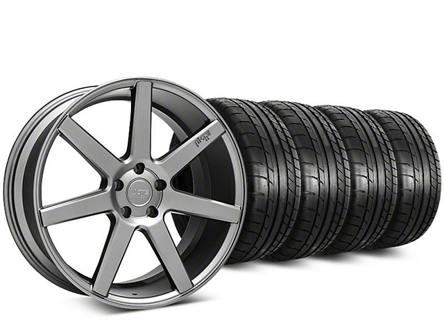 Staggered Niche Verona Anthracite Wheel & Mickey Thompson Tire Kit - 20 in. - 2 Rear Options (15-17 All)