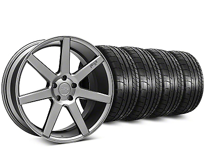 Staggered Niche Verona Anthracite Wheel & Mickey Thompson Tire Kit - 20 in. - 2 Rear Options (15-19 All)