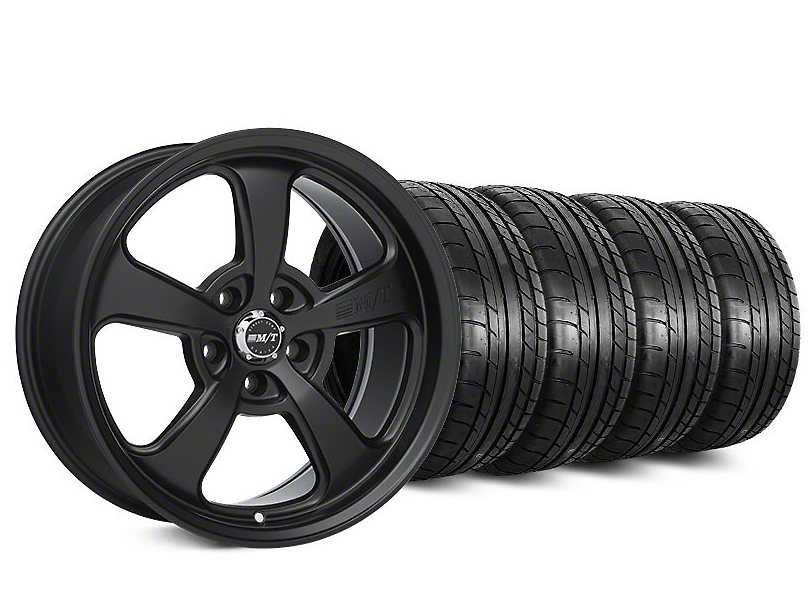 Staggered Mickey Thompson SC-5 Flat Black Wheel & Mickey Thompson Tire Kit - 20x9/10.5 (15-19 All)