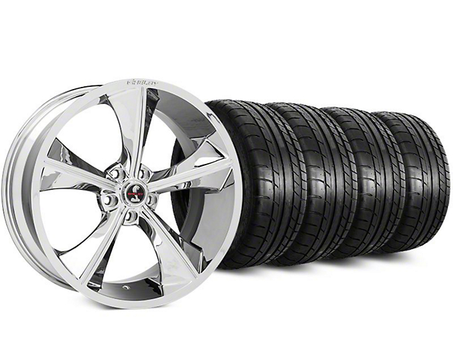 Staggered Shelby CS70 Chrome Wheel & Mickey Thompson Tire Kit - 20 in. - 2 Rear Options (15-17 All)