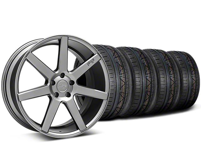 Staggered Niche Verona Anthracite Wheel & NITTO INVO Tire Kit - 20x9/10 (15-18 All)