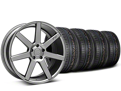 Staggered Niche Verona Anthracite Wheel & NITTO INVO Tire Kit - 20x9/10 (15-18 All)