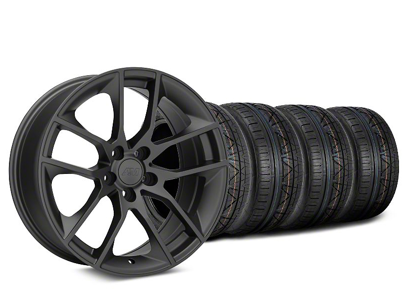 Staggered Magnetic Style Charcoal Wheel & NITTO INVO - 20x8.5/10 (15-19 GT, EcoBoost, V6)