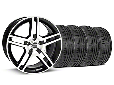 Staggered 2010 GT500 Style Black Machined Wheel & Sumitomo Tire Kit - 19x8.5/10 (15-18 GT, EcoBoost, V6)