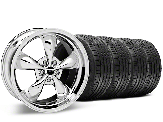 Staggered Bullitt Chrome Wheel & Sumitomo Tire Kit - 20x8.5/10 (15-17 V6, EcoBoost)