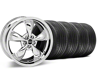 Staggered Bullitt Chrome Wheel & Sumitomo Tire Kit - 20x8.5/10 (15-17 EcoBoost, V6)