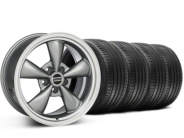 Staggered Bullitt Anthracite Wheel & Sumitomo Tire Kit - 20x8.5/10 (15-17 EcoBoost, V6)