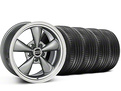 Staggered Bullitt Anthracite Wheel & Sumitomo Tire Kit - 20x8.5/10 (15-18 EcoBoost, V6)