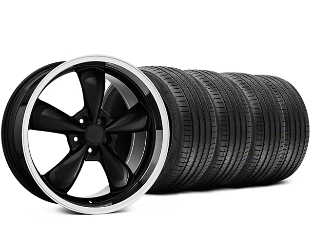 Staggered Bullitt Black Wheel & Sumitomo Tire Kit - 20x8.5/10 (15-19 EcoBoost, V6)