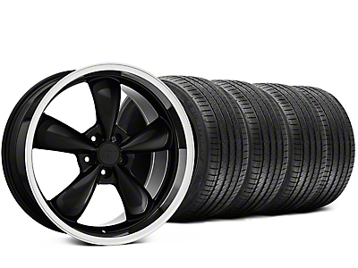 Staggered Bullitt Black Wheel & Sumitomo Tire Kit - 20x8.5/10 (15-17 EcoBoost, V6)