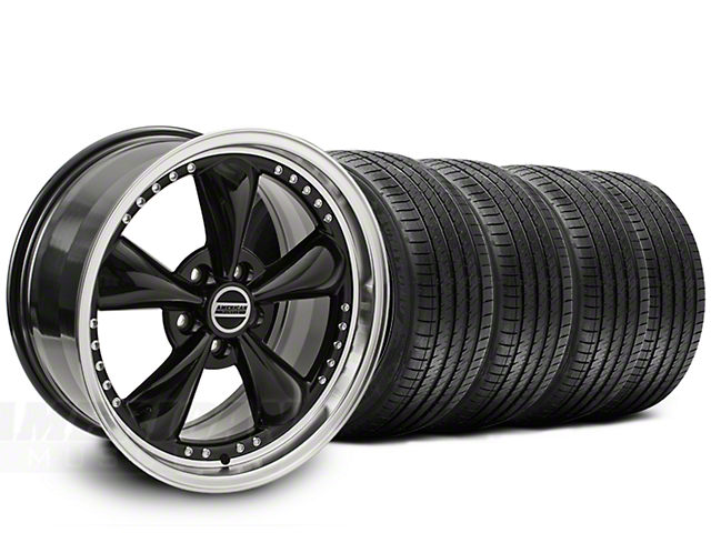 Staggered Bullitt Motorsport Black Wheel & Sumitomo Tire Kit - 20x8.5/10 (15-18 EcoBoost, V6)
