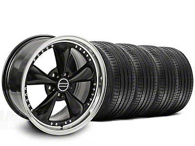 Staggered Bullitt Motorsport Black Wheel & Sumitomo Tire Kit - 20x8.5/10 (15-17 EcoBoost, V6)