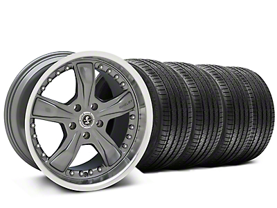 Staggered Shelby Razor Gunmetal Wheel & Sumitomo Tire Kit - 20x9/10 (15-18 All)