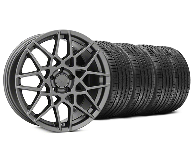 2013 GT500 Style Charcoal Wheel & Sumitomo Tire Kit - 20x8.5 (15-19 GT, EcoBoost, V6)