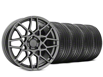 2013 GT500 Style Charcoal Wheel & Sumitomo Tire Kit - 20x8.5 (15-18 GT, EcoBoost, V6)