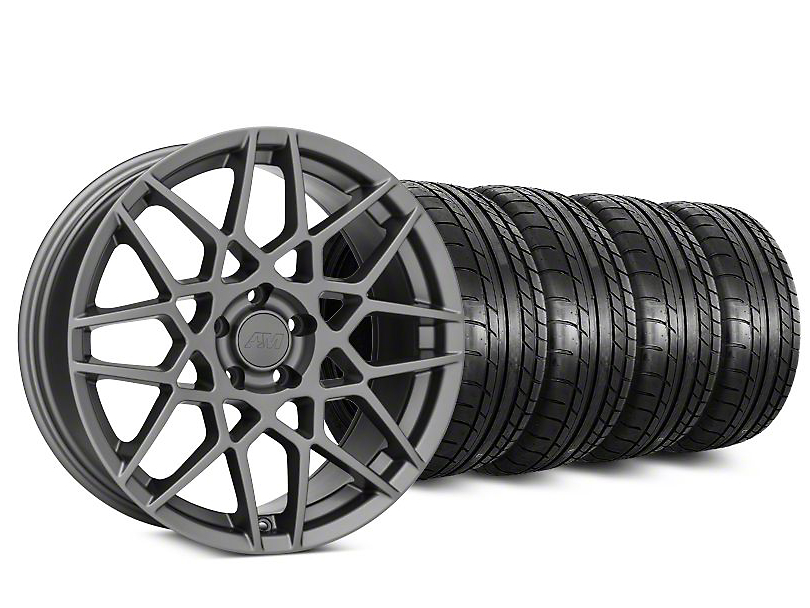 2013 GT500 Style Charcoal Wheel & Mickey Thompson Tire Kit - 20x8.5 (15-17 V6, EcoBoost)