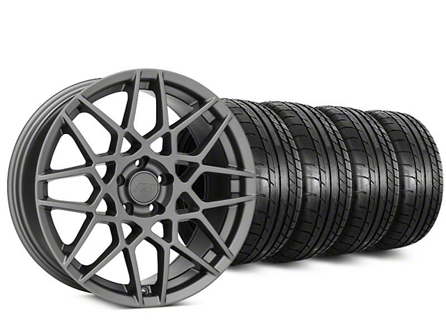 2013 GT500 Style Charcoal Wheel & Mickey Thompson Tire Kit - 20x8.5 (15-19 GT, EcoBoost, V6)