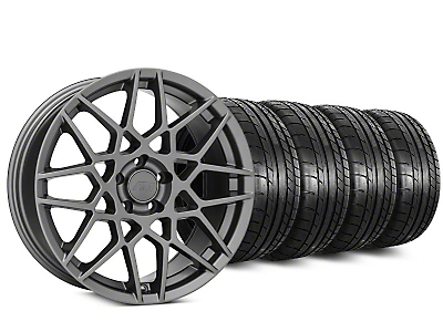 2013 GT500 Style Charcoal Wheel & Mickey Thompson Tire Kit - 20x8.5 (15-18 GT, EcoBoost, V6)