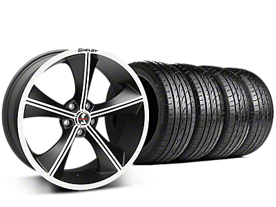 Staggered Shelby CS70 Matte Black Wheel & Sumitomo Tire Kit - 20x9/10 (15-17 V6, GT, and EcoBoost)