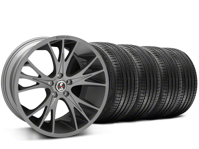 Shelby CS1 Gunmetal Wheel & Sumitomo Tire Kit - 20x9 (15-18 GT, EcoBoost, V6)