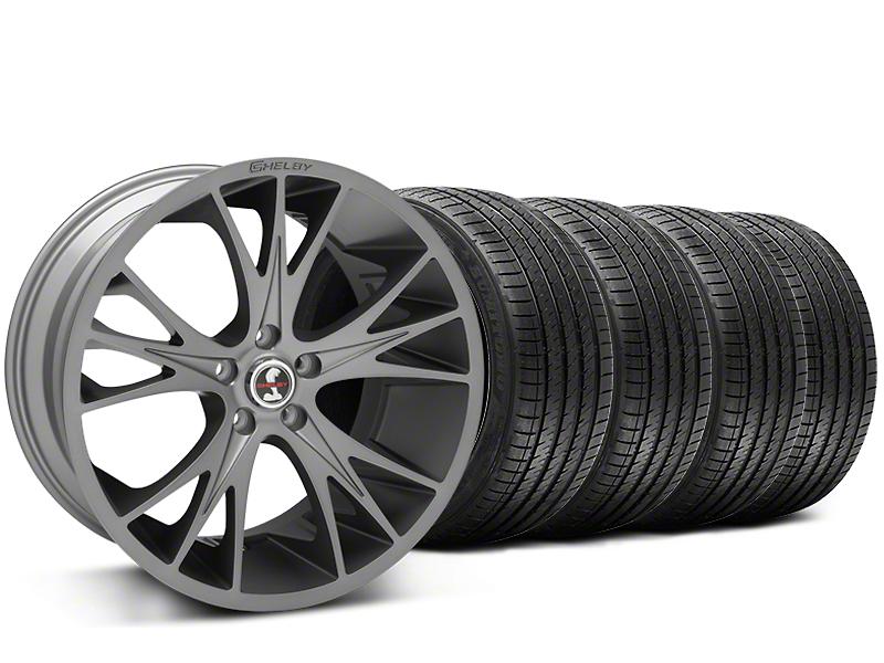 Shelby CS1 Gunmetal Wheel & Sumitomo Tire Kit - 20x9 (15-17 V6, GT, and EcoBoost)