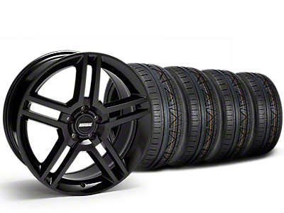 Staggered 2010 GT500 Style Black Wheel & NITTO INVO Tire Kit - 19x8.5/10 (15-19 All)