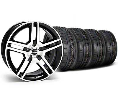Staggered 2010 GT500 Style Black Machined Wheel & NITTO INVO Tire Kit - 19x8.5/10 (15-17 All)