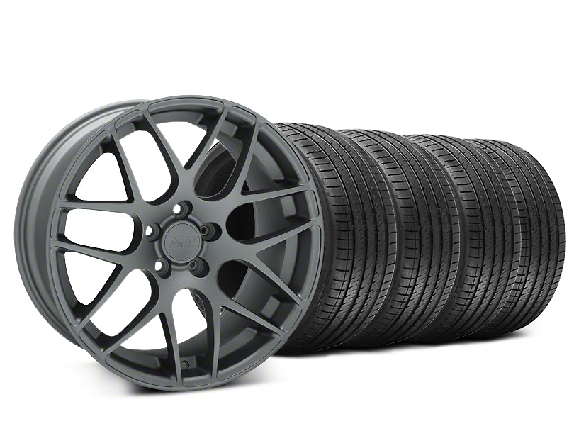 AMR Charcoal Wheel & Sumitomo Tire Kit - 20x8.5 (15-19 GT, EcoBoost, V6)