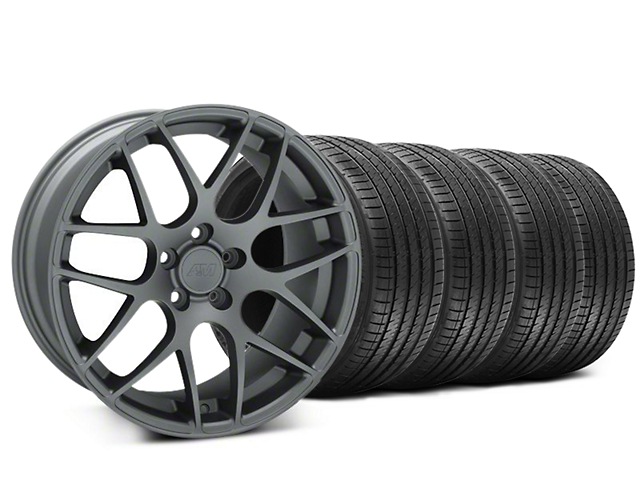 AMR Charcoal Wheel & Sumitomo Tire Kit - 20x8.5 (15-18 GT, EcoBoost, V6)