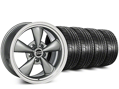 Staggered Deep Dish Bullitt Anthracite Wheel & Mickey Thompson Tire Kit - 20 in. - 2 Rear Options (15-19 EcoBoost, V6)