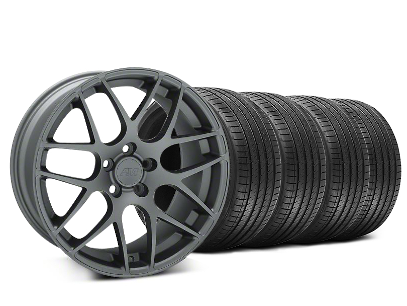 Staggered AMR Charcoal Wheel & Sumitomo Tire Kit - 20x8.5/10 (15-18 All)