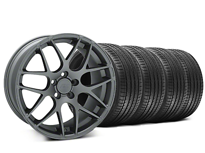 Staggered AMR Charcoal Wheel & Sumitomo Tire Kit - 20x8.5/10 (15-19 GT, EcoBoost, V6)