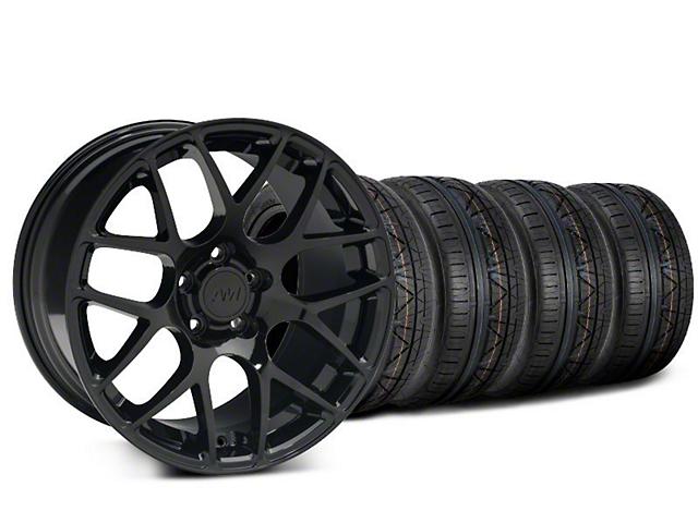Staggered AMR Black Wheel & NITTO INVO Tire Kit - 20x8.5/10 (15-18 GT, EcoBoost, V6)