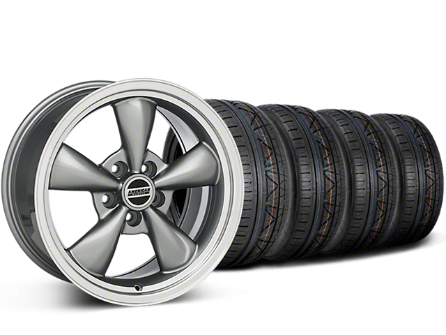 Staggered Deep Dish Bullitt Anthracite Wheel & NITTO INVO Tire Kit - 20x8.5/10 (15-19 EcoBoost, V6)