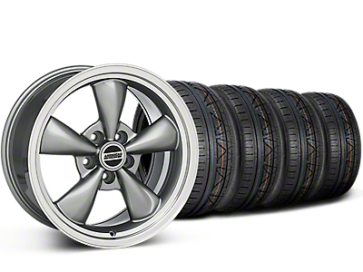 Staggered Deep Dish Bullitt Anthracite Wheel & NITTO INVO Tire Kit - 20x8.5/10 (15-18 EcoBoost, V6)