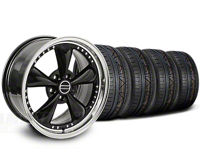 Staggered Bullitt Motorsport Black Wheel & NITTO INVO Tire Kit - 20x8.5/10 (15-19 EcoBoost, V6)