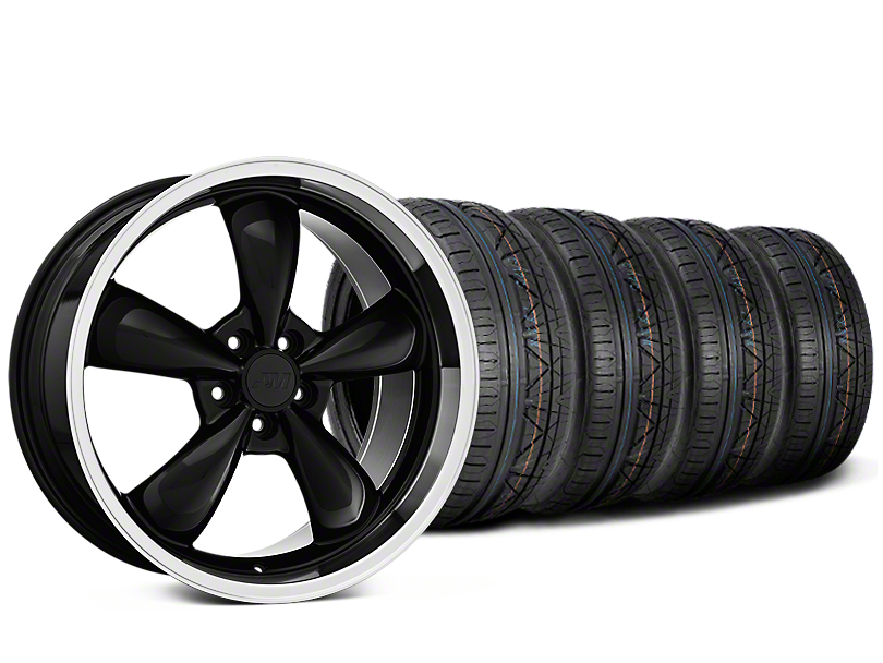 Staggered Deep Dish Bullitt Black Wheel & NITTO INVO Tire Kit - 20x8.5/10 (15-18 EcoBoost, V6)
