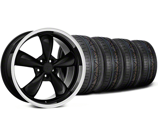 Staggered Deep Dish Bullitt Black Wheel & NITTO INVO Tire Kit - 20x8.5/10 (15-19 EcoBoost, V6)