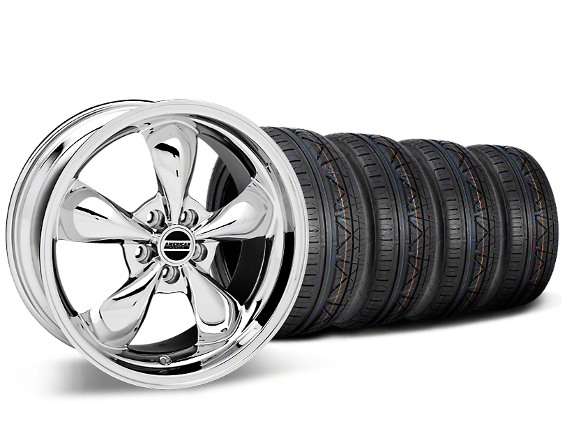 Staggered Deep Dish Bullitt Chrome Wheel & NITTO INVO Tire Kit - 20x8.5/10 (15-18 EcoBoost, V6)