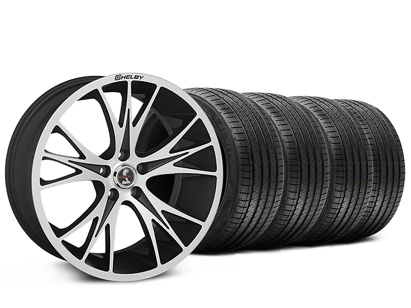 Shelby CS1 Black Machined Wheel & Sumitomo Tire Kit - 20x9 (15-17 V6, GT, and EcoBoost)